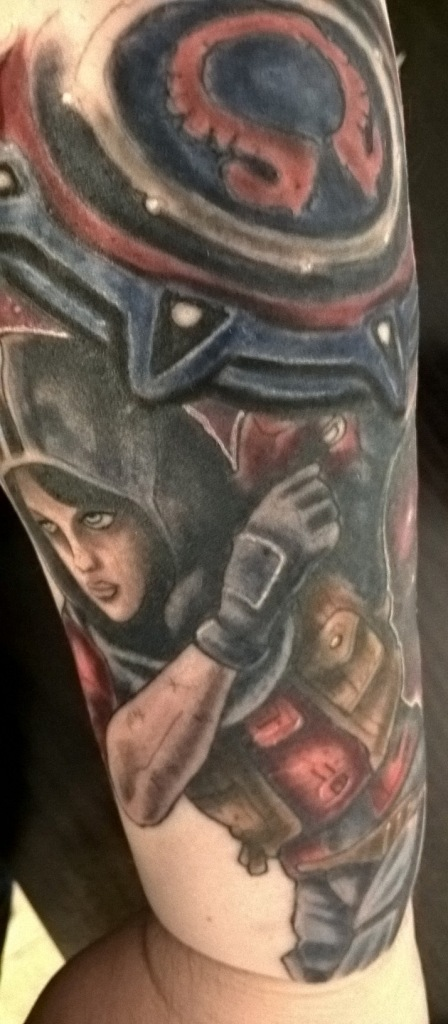 Athena Tattoo Finished